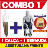 COMBO N° 1 - 1 CALÇA E 1 BERMUDA COM ABERTURA NA FRENTE