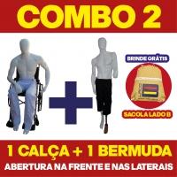 COMBO N° 2 - 1 CALÇA + 1 BERMUDA COM ABERTURA NA FRENTE E NAS LATERAIS + BOLSA LADO B