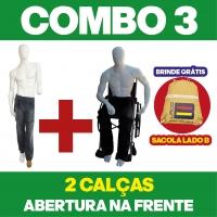 COMBO N° 3 - 2 CALÇAS COM ABERTURA NA FRENTE + 1 BOLSA LADO B