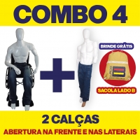 COMBO N° 4 - 2 CALÇAS COM ABERTURA NA FRENTE E NAS LATERAIS + 1 BOLSA LADO B