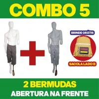 COMBO N° 5 - 2 BERMUDAS COM ABERTURA NA FRENTE + 1 BOLSA LADO B